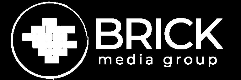 Brick Media White Logo